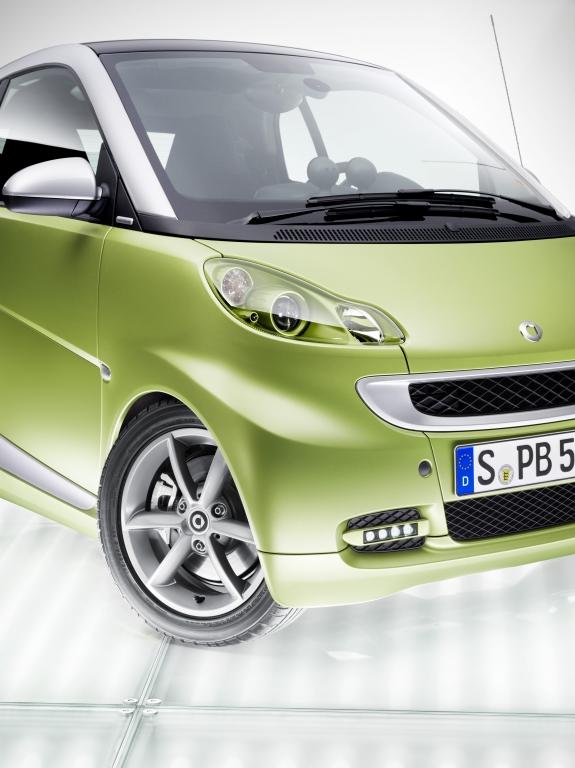 Jetzt gibt es auch den Smart in matt-grün