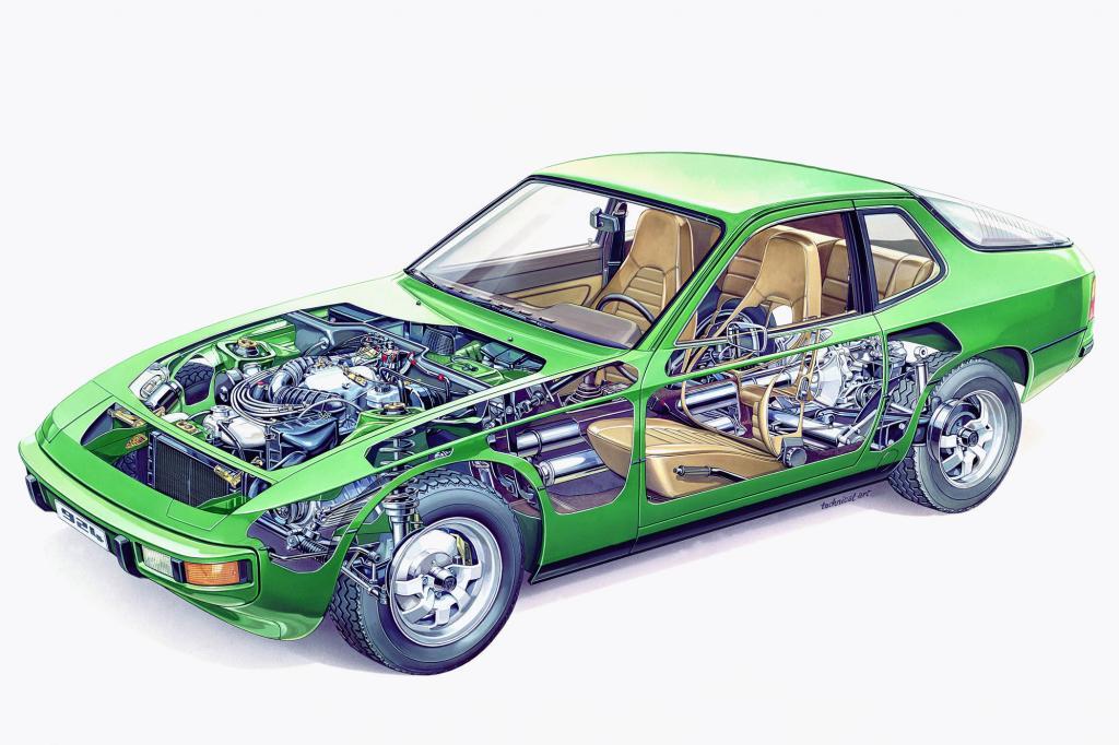 Porsche 924 im Querschnitt