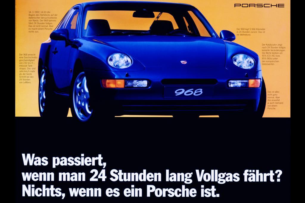 Porsche 968 Werbung, 1992