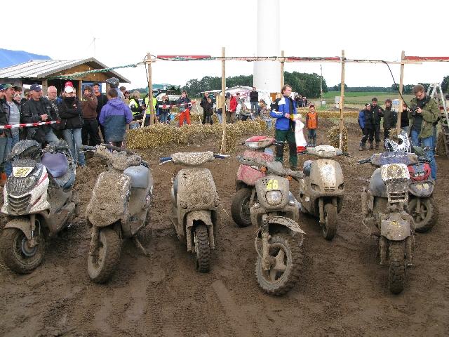Roller nach dem Rennen