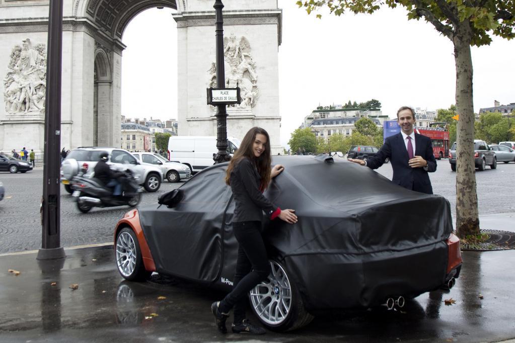 BMW Frankreich-Marketingdirektor Baudouin Denis enthüllte für kurze Augenblicke einige Details des 1er M Coupés.