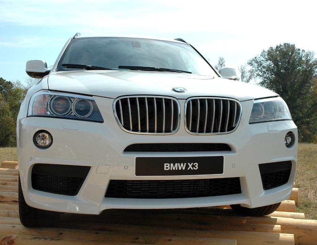 BMW X3: Blick auf die Front der Variante mit M-Sportpaket.