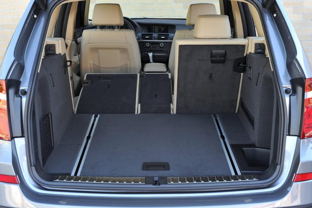 Der Kofferraum fasst 550 Liter und kann auf 1 600 Liter erweitert werden.