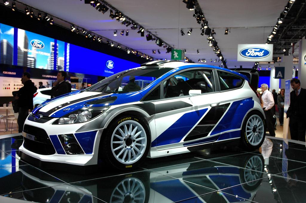 Der Nachfolger: Fords Fiesta RS WRC bei der Autoschau in Paris.