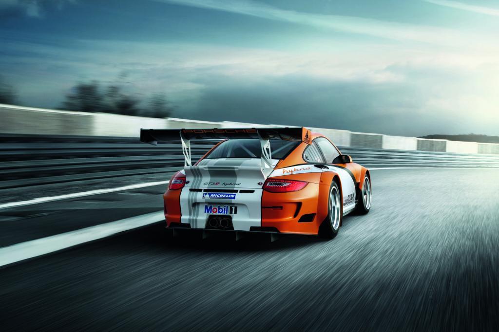 Der Schwungscheiben-Hybrid aus dem Porsche 911 GT3 R bleibt eine Technik für die Rennstrecke