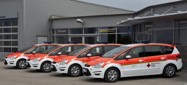 Ford S-Max Notarzt-Einsatzfahrzeuge für Bayerisches Rotes Kreuz