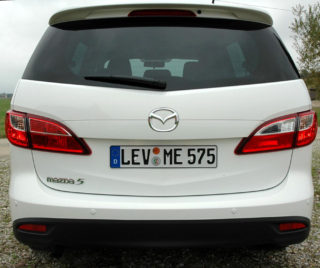 Mazda5: Blick auf die Heckpartie.