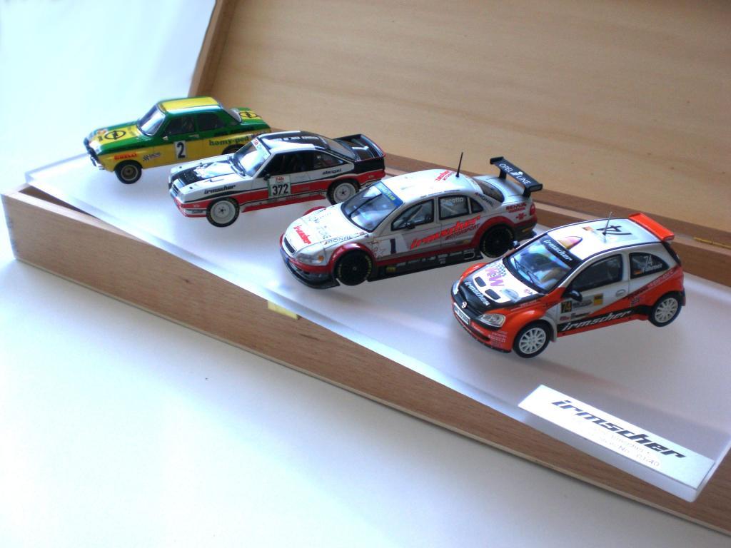 Modellauto-Kollektion von Irmscher.