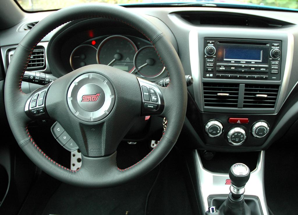 Subaru WRX STi: Blick ins Cockpit.