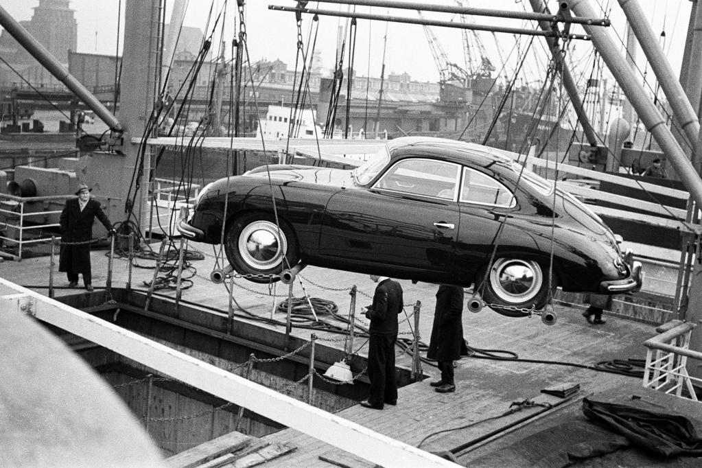 Verschiffung eines Porsche 356 Coupé nach Amerika (1953).