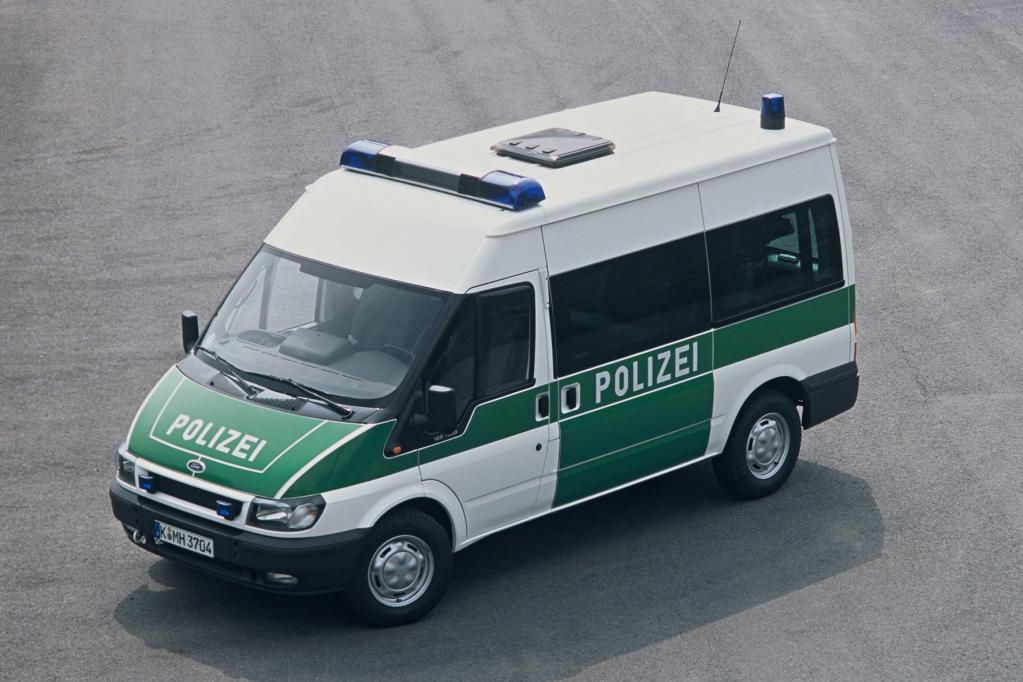 Auch als Polizeiwagen war der Transit schon im Einsatz.