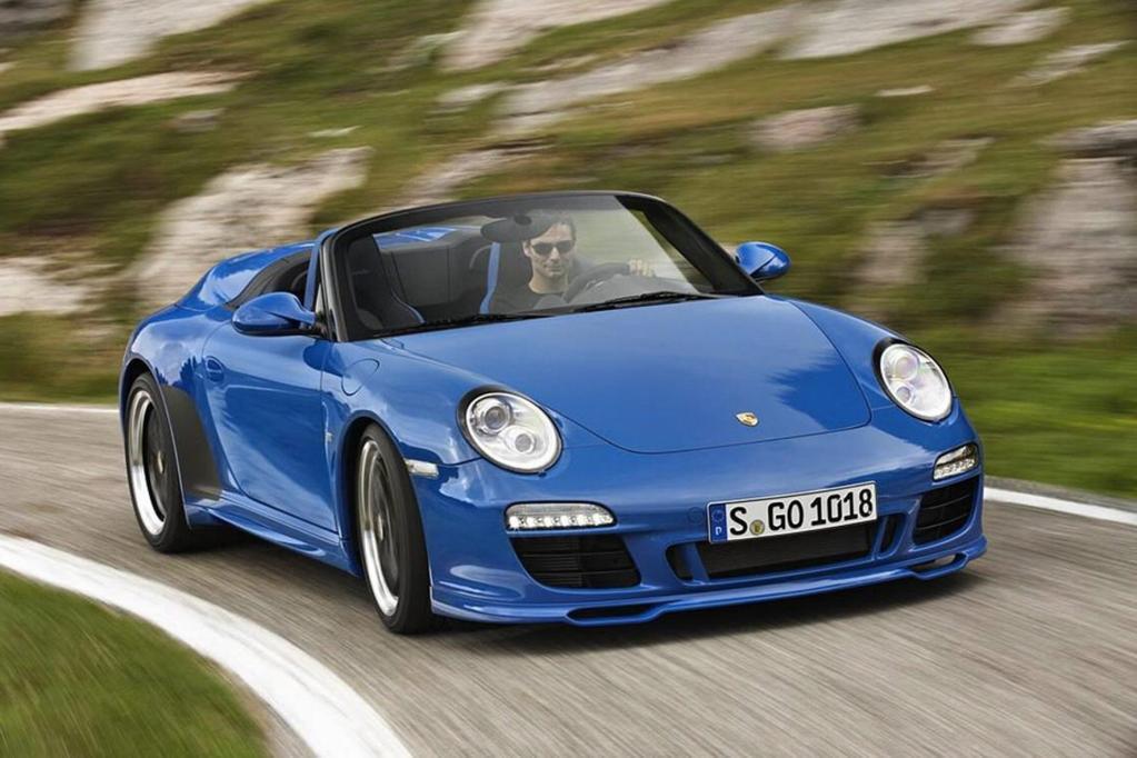 Aus Europa nach L.A. kommt auch die neuen Porsche-911-Versionen Speedster.