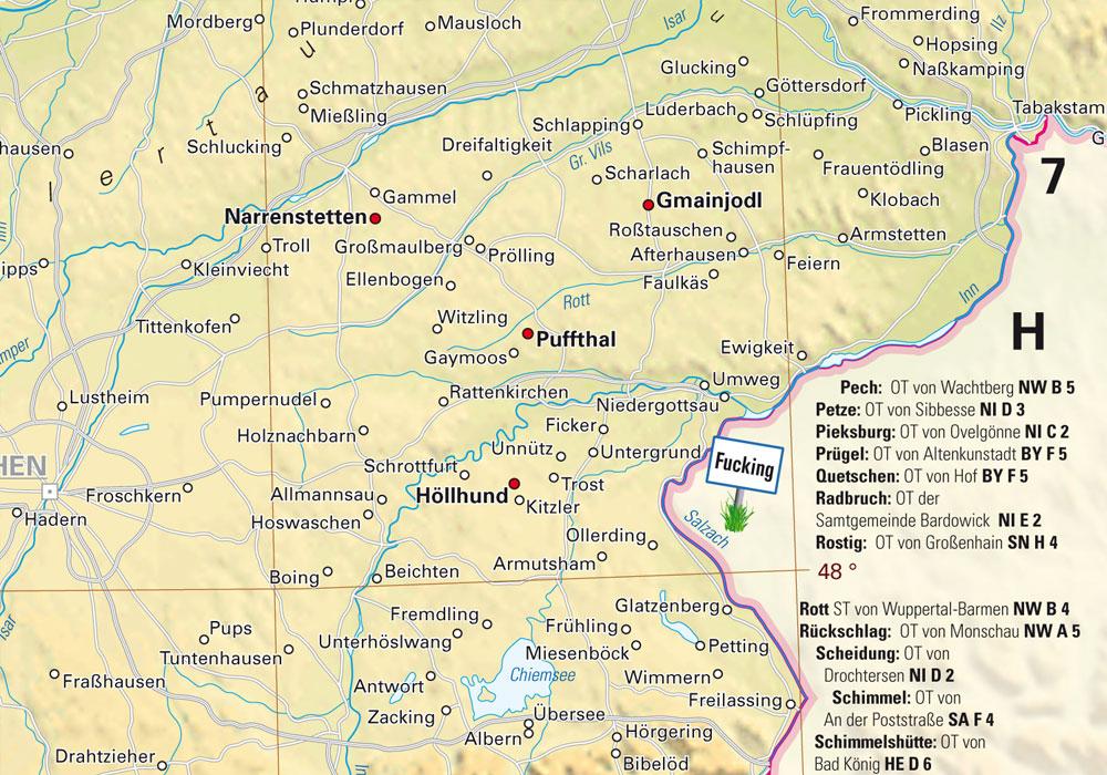 Bayern hat so einige kuriose Ortsnamen zu bieten, Bild: Kalimedia