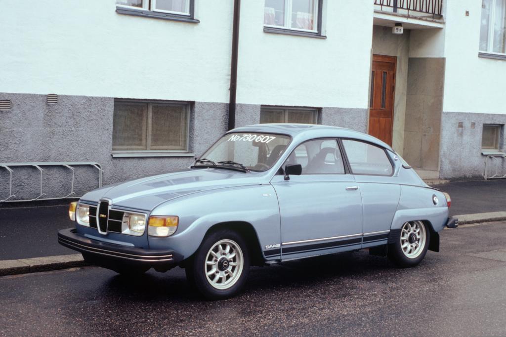Das letzte produzierte Modell des Saab 96 im Jahr 1980