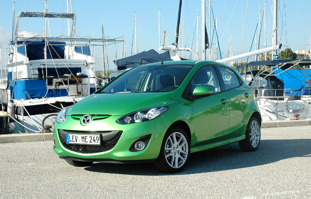 Der 2er, hier als Fünftürer, ist Mazdas Einstiegsmodell.