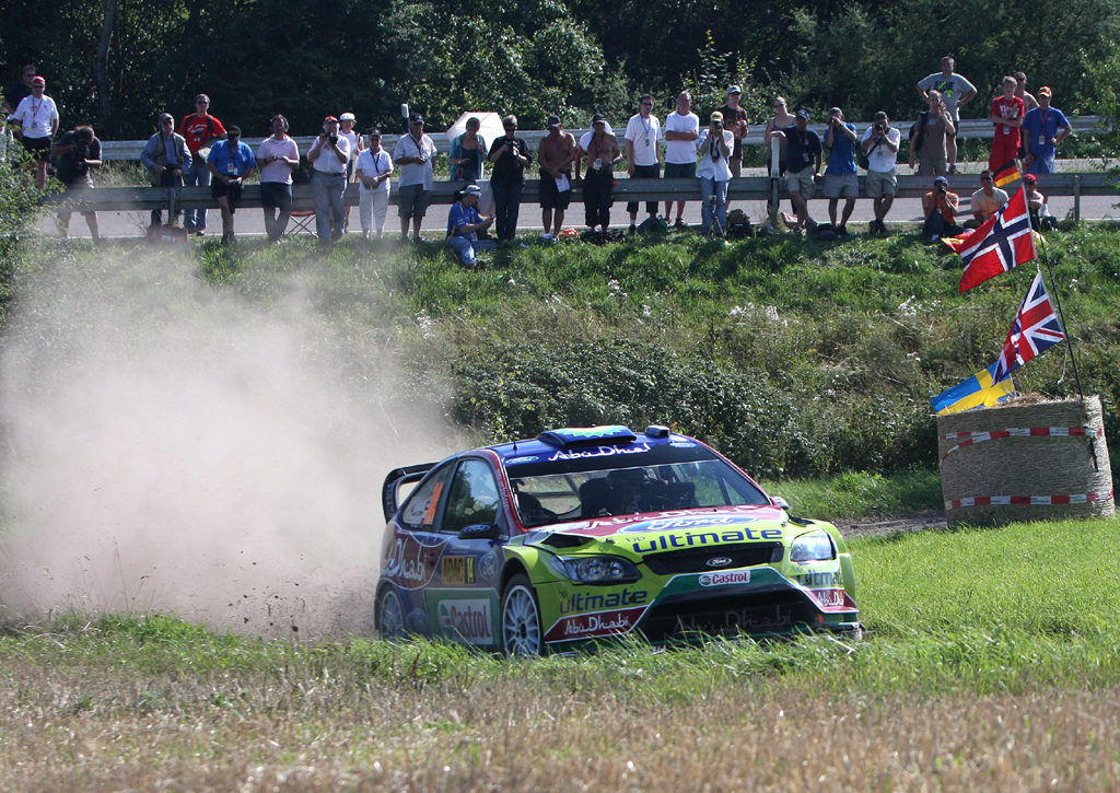 Der Vorgänger: Focus RS WRC bei der Deutschland-Rallye.