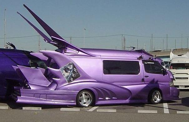 Der lila Matmobil-Van