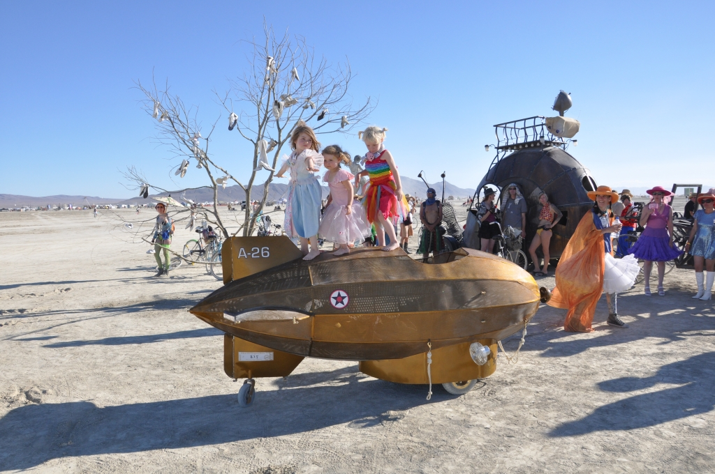 Die Kinderattraktion beim diesjährigen Burning Man Festival,  Foto: oilpunk.com