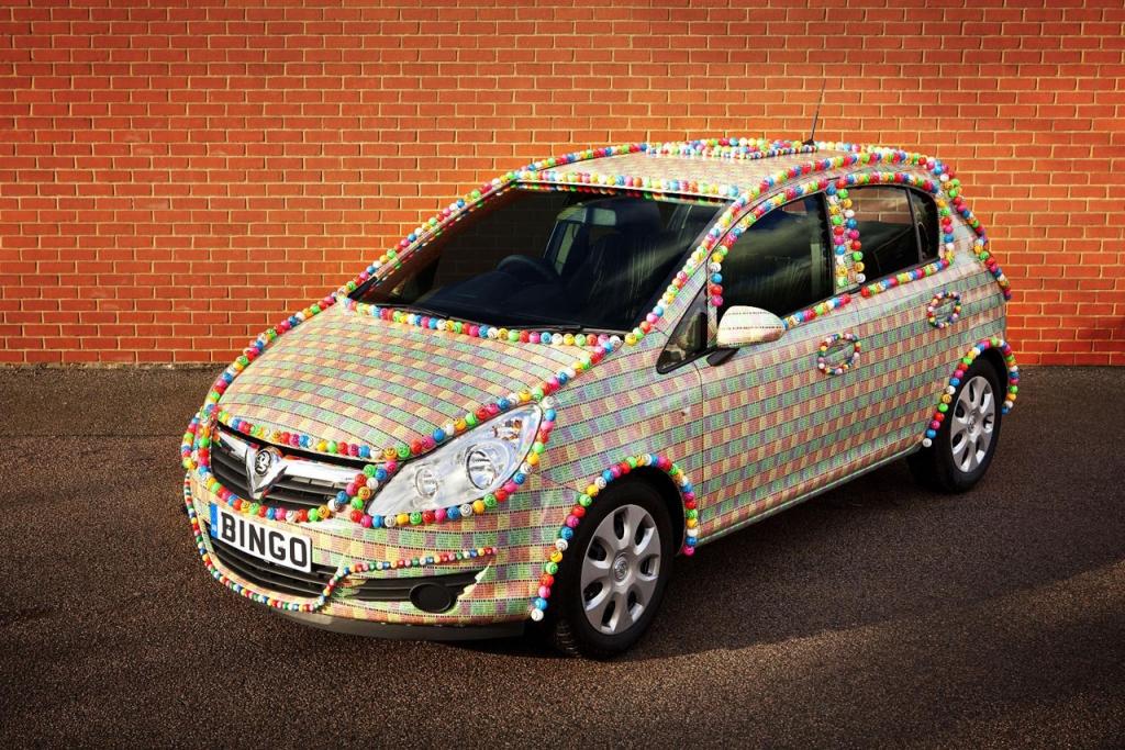 Ein Auto, mit dem man Bingo spielen kann...Daumen hoch!