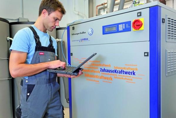 Erste Zuhause-Kraftwerke von Volkswagen installiert