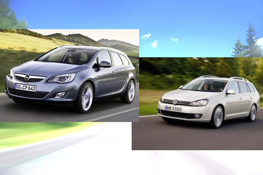 Kombi-Vergleich: VW Golf vs. Opel Astra - Neue Länge gegen bekannte Größe
