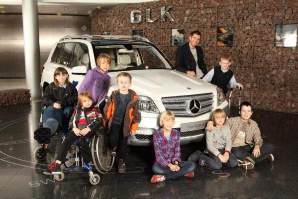 Mercedes-Benz lud Kinder ein