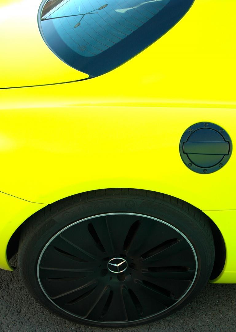 Mercedes SLS AMG E-Cell: Die dunklen Radabdeckungen könnten auch vor allzu neugierigen Blicken schützen.