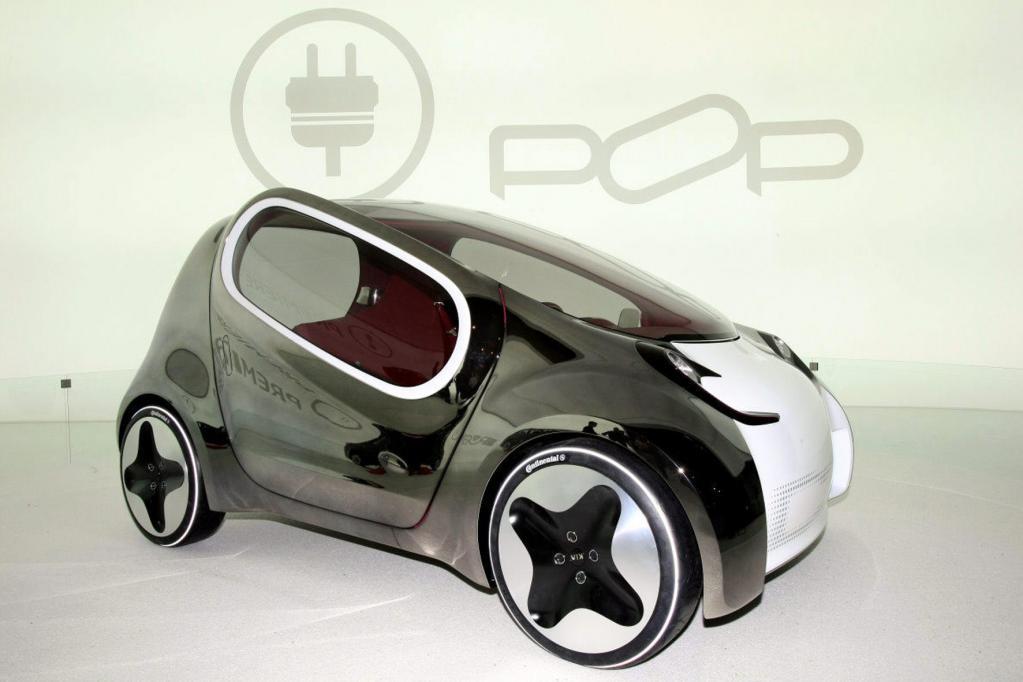 Mit von der L.A.-Partie ist das visionäre Citymobil Kia Pop.