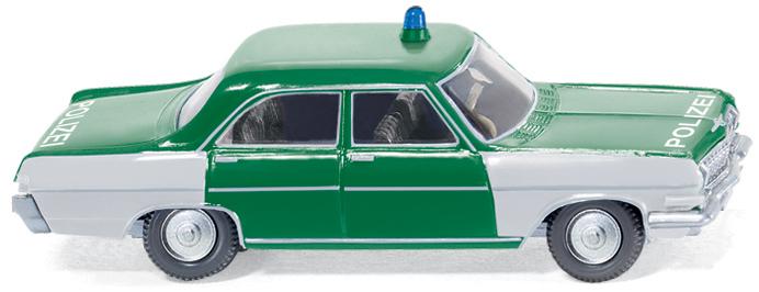 Opel Kapitän A in Polizeiausführung von Wiking.