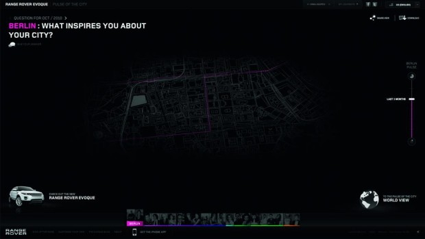 Range Rover setzt Fahrten mit iPhone-Applikation in Szene