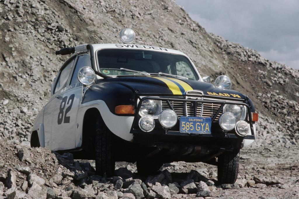 Saab 96 bei der Rallye Baja mit Erik Carlsson 1969