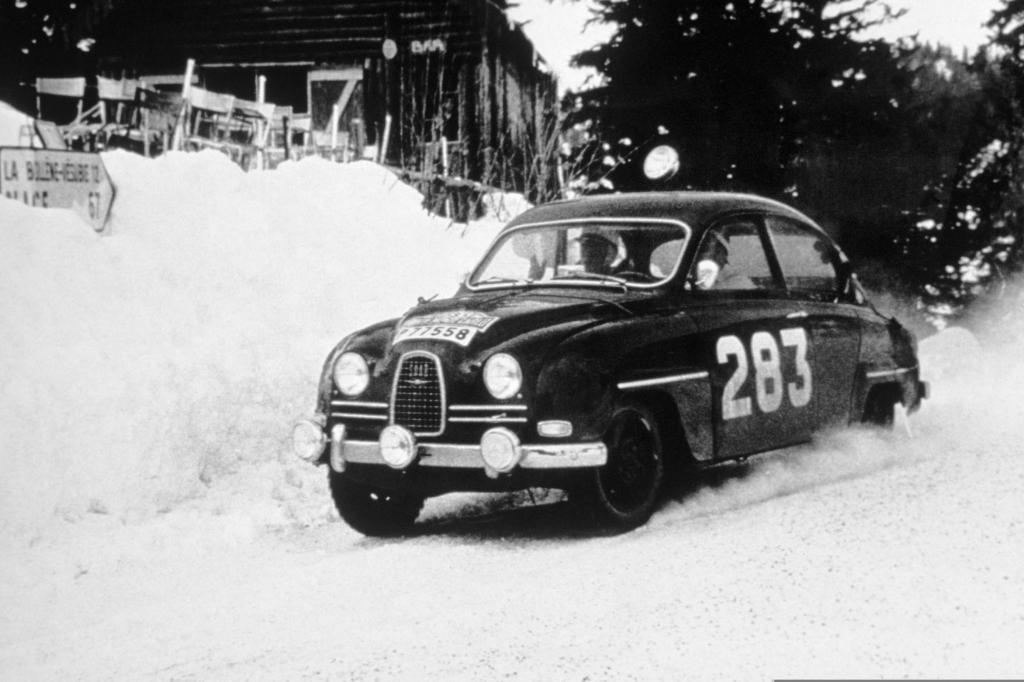 Saab 96 bei der Rallye Monte Carlo 1963