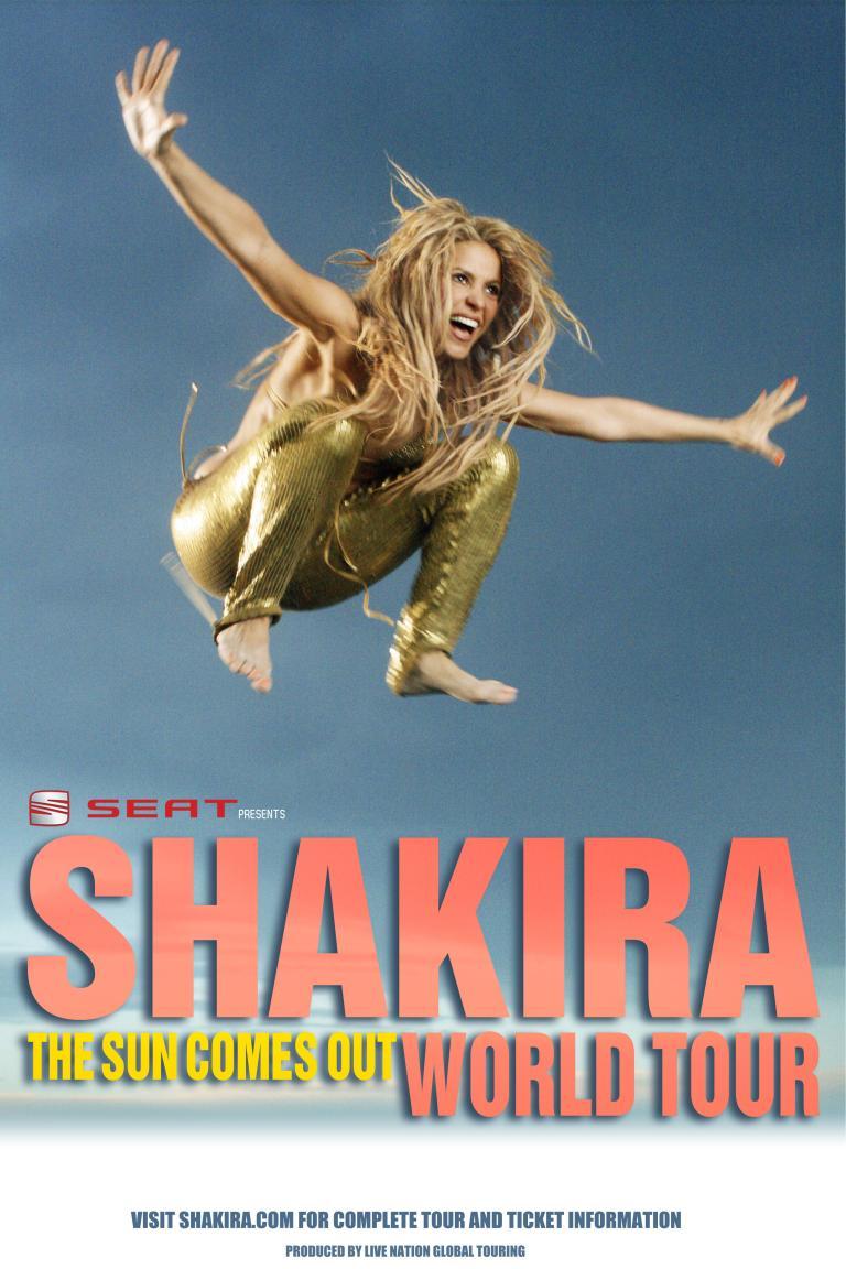 Seat sponsert Shakira-Tournee