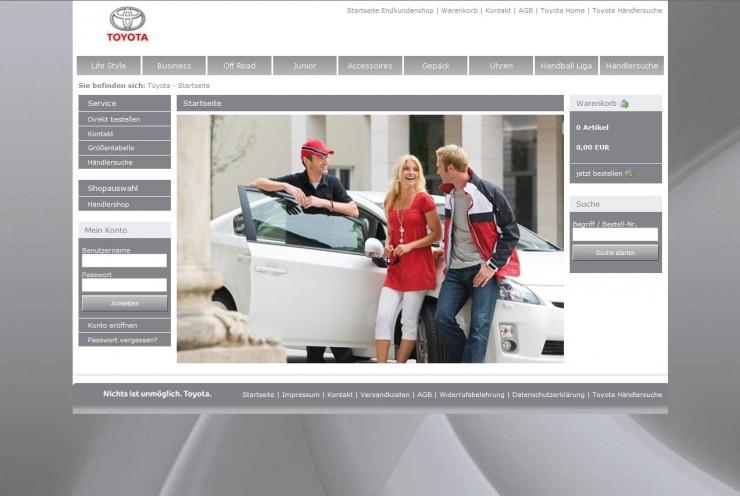 Toyota-Shop ist online