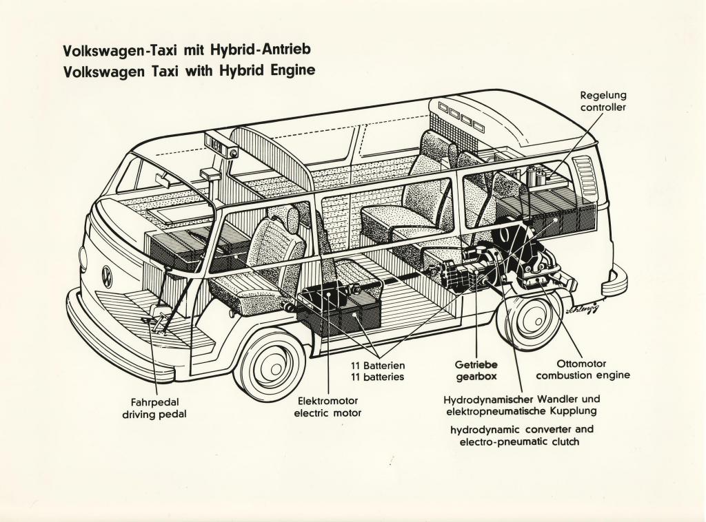 VW: Ein Bus als Taxi mit Hybrid-Antrieb