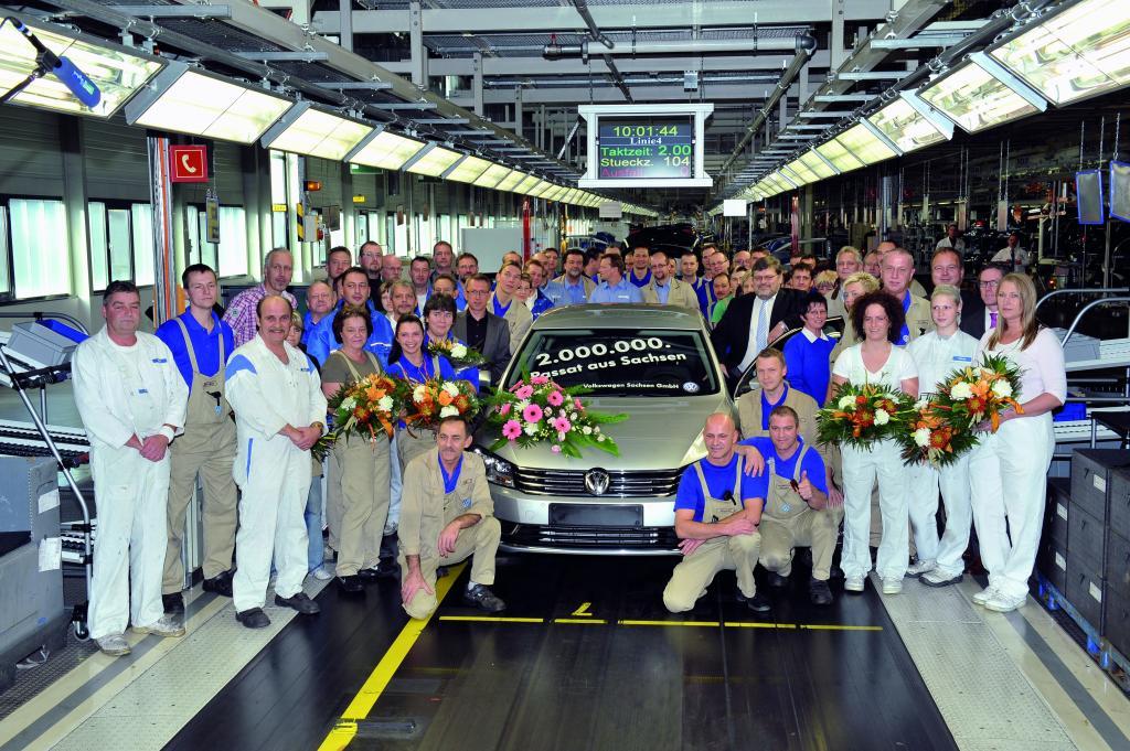 Volkswagen Sachsen fertigte zweimillionsten Passat