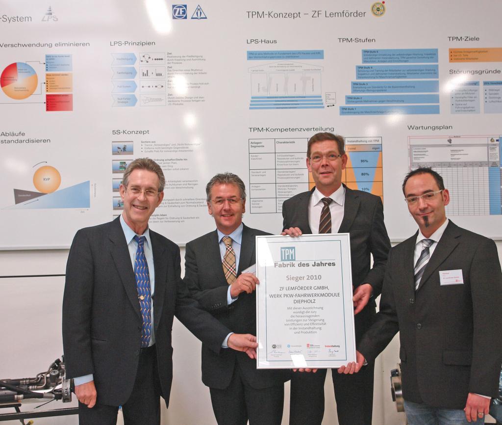 ZF-Werk Diepholz ist TPM-Fabrik des Jahres