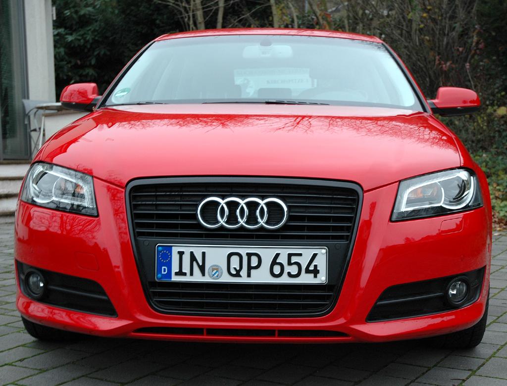Audi A3 Diesel: Blick auf die Frontpartie des Kompaktmodells.