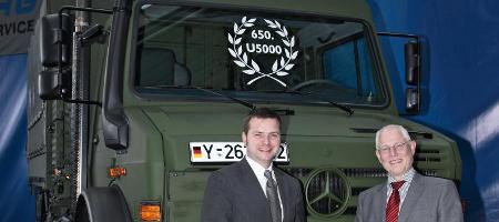 Bundeswehr bekommt 650sten Unimog U 5000