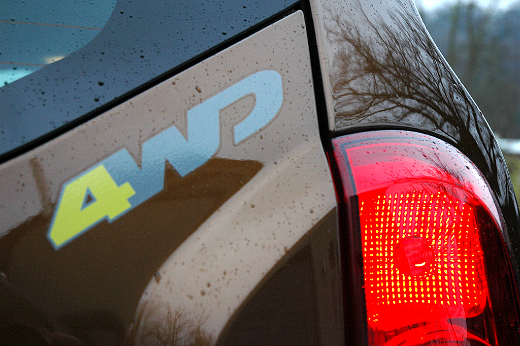 Dacia Duster: 4WD (für 4-Wheel-Drive) steht für den Allradantrieb.