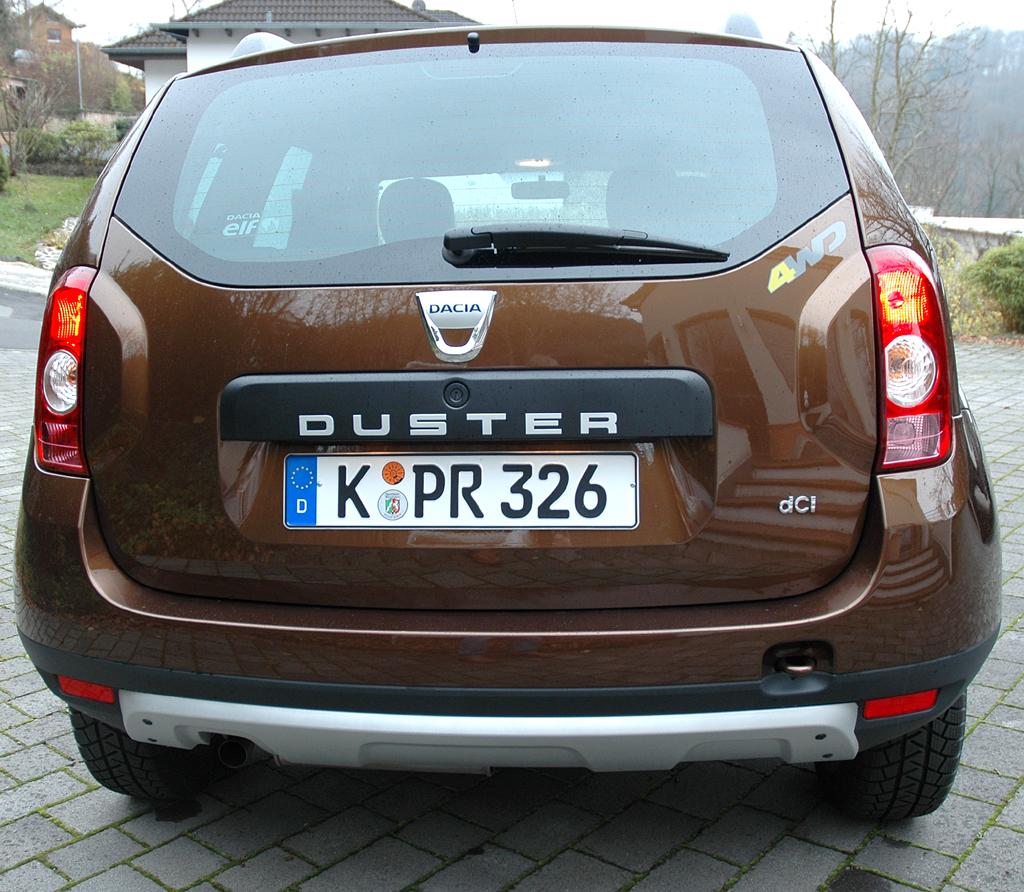 Dacia Duster: Blick auf die Heckpartie.