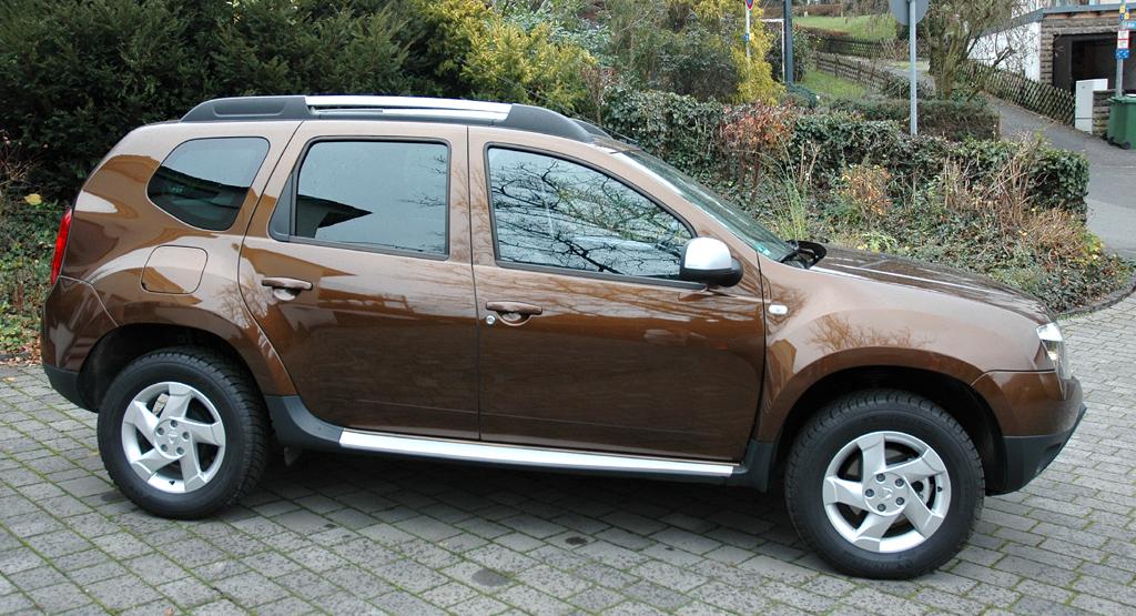 Dacia Duster: Und so sieht der Kompakt-SUV von der Seite aus.