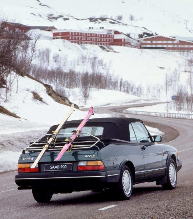 Das Saab 900 Cabriolet war absolut wintertauglich.