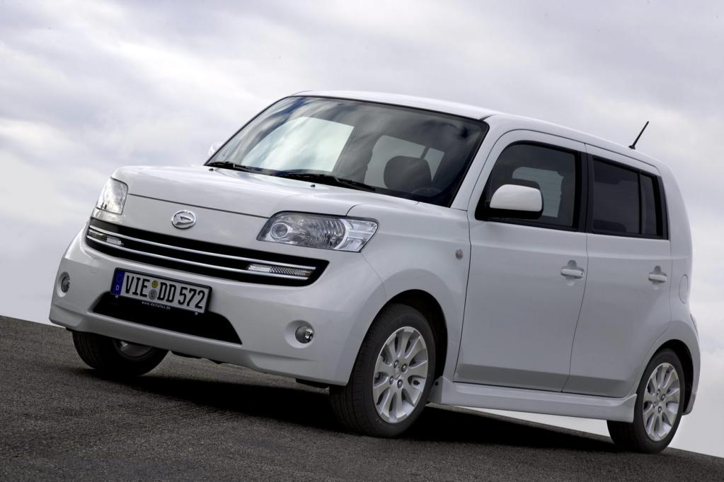 Der Daihatsu Materia gehört zu den extravaganten Automobilentwürfen für kleines Geld.