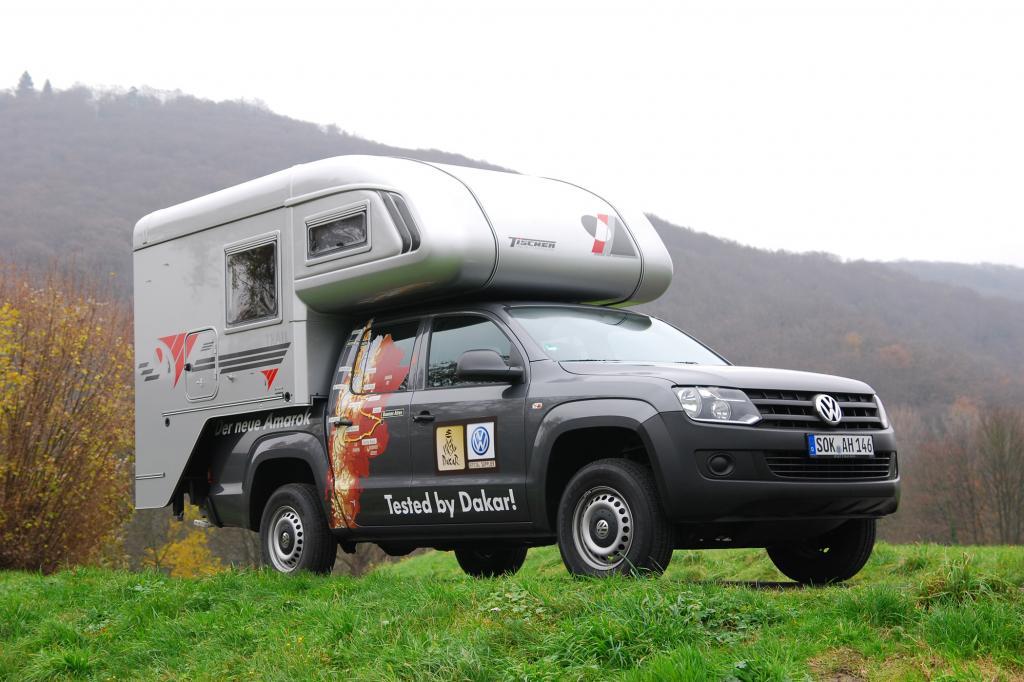 Der Tischer Trail 220 auf VW Amarok ist abseits befestigter Wege ideal