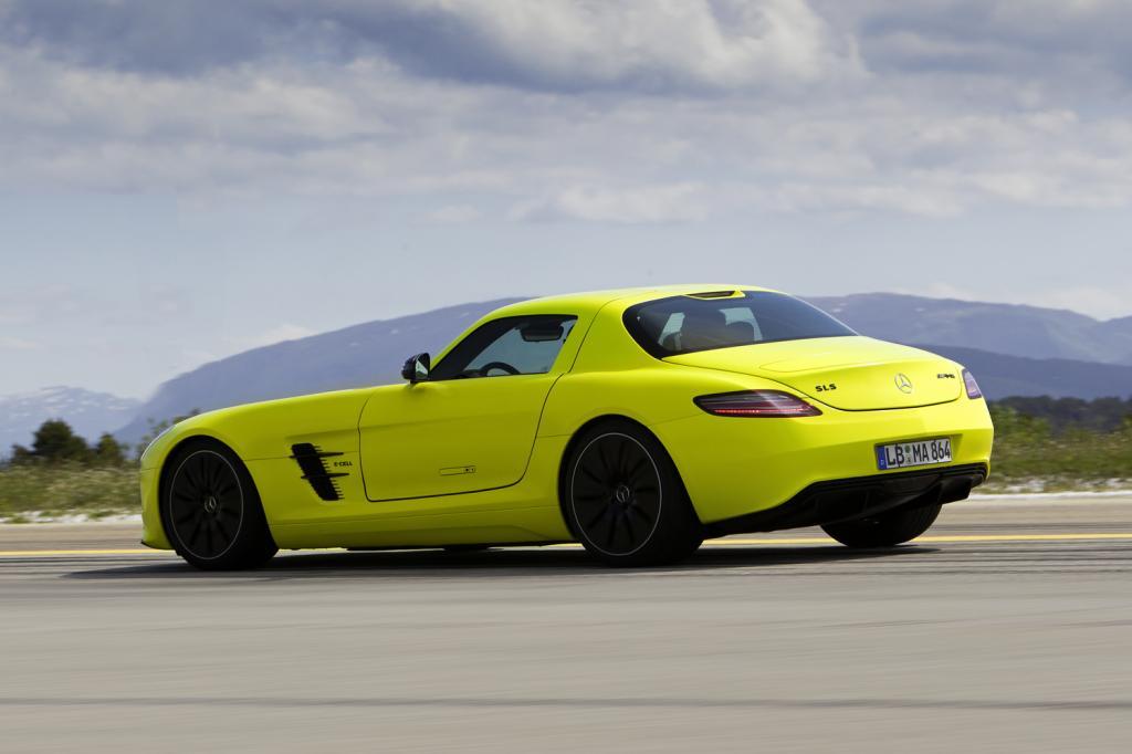 Elektromobilität kann Spaß machen - zum Beispiel im Mercedes-AMG SLS E-Cell