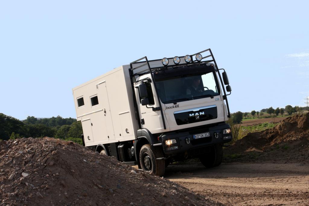 Für die große Fahrt: Bocklet Dakar 740 auf MAN-Basis