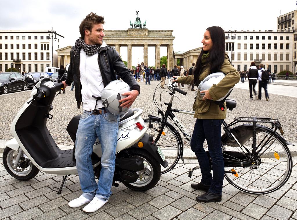 Fahrrad, Roller, Pkw, Transporter: In Berlin läuft