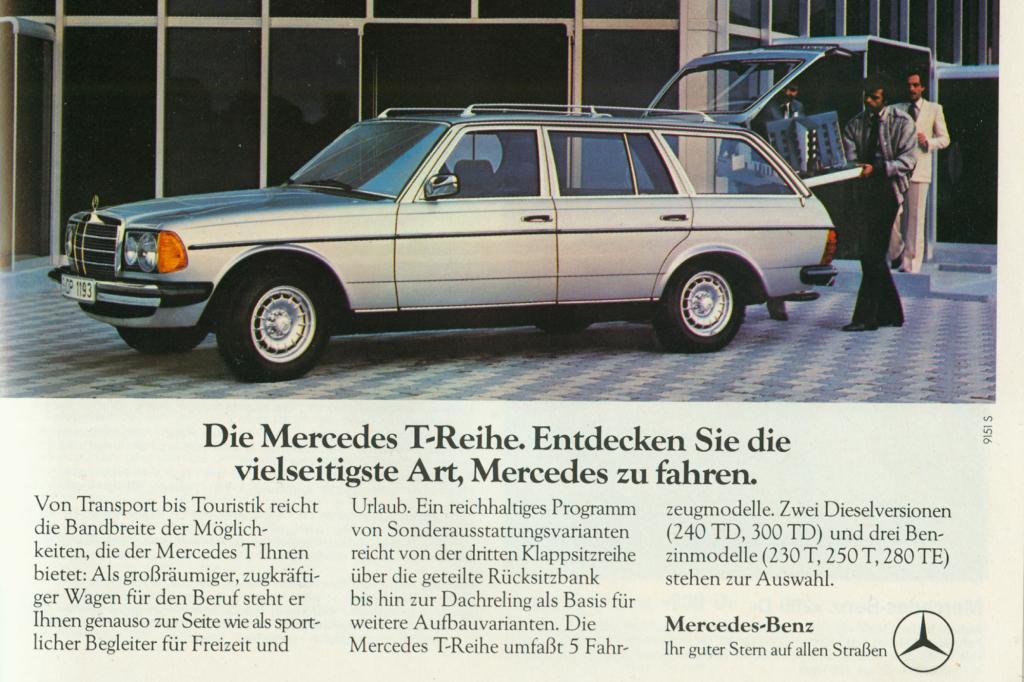 Mercedes-Benz W123 T-Model ab 1977