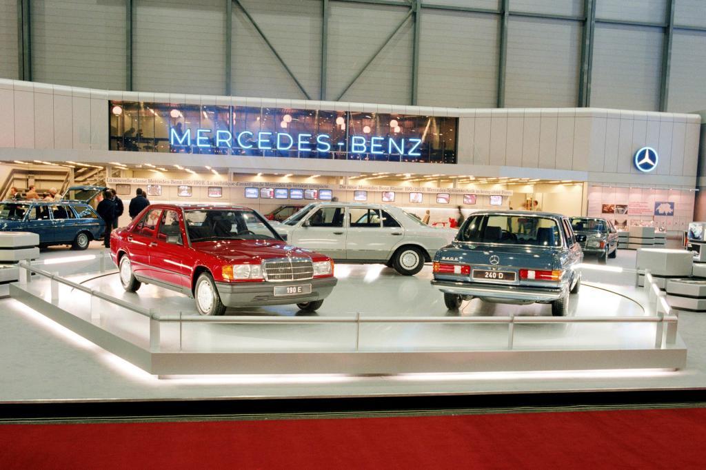 Mercedes-Benz W123 mit Typ 190 und S-Klasse 126